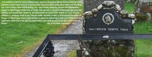 MacGregor Despite Them Tombstone